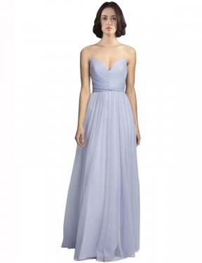 Affordable A-Line Spaghetti Straps Sweetheart Lilac Tulle Long Roselyn Bridesmaid Dress Australia