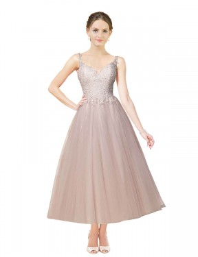 Affordable Ball Gown Sweetheart Ivory & Champagne Tulle Short Daleyza Wedding Dress Australia