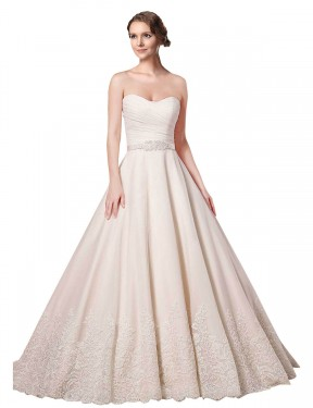 Affordable Ball Gown Sweetheart Ivory Lace Short Adelynn Wedding Dress Australia