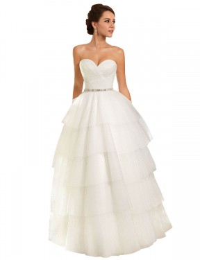 Affordable Ball Gown Sweetheart Ivory Tulle Long Molly Wedding Dress Australia