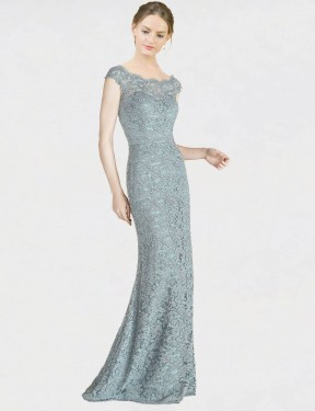Affordable Mermaid Fit and Flare Off the Shoulder Blue Lace Long Kai Bridesmaid Dress Australia
